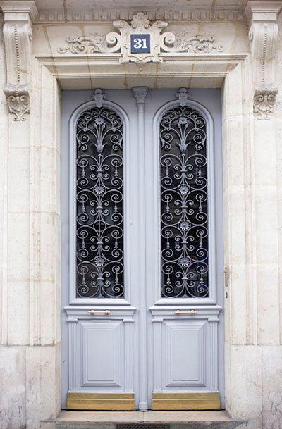 Paris Photography - Blue Grey Door