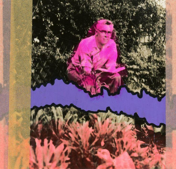 Collage Creativi Su Foto Di Uomini Vintage Decorato A Mano