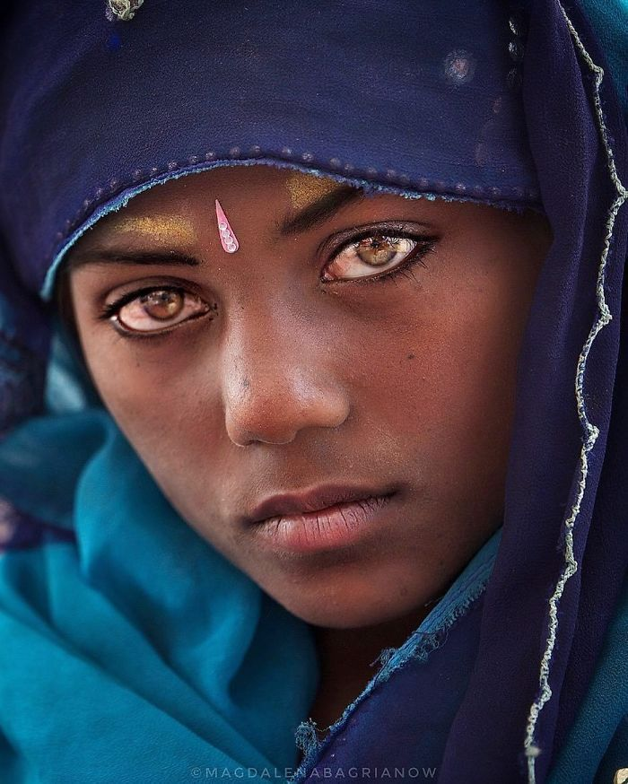 Beautiful Indians Local People Magdalena Bagrianow India Girl