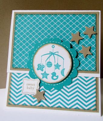 Stampin'Up, Baby kaart, Sweetest Gift