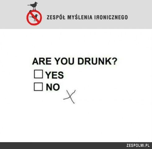 Drunk? ...