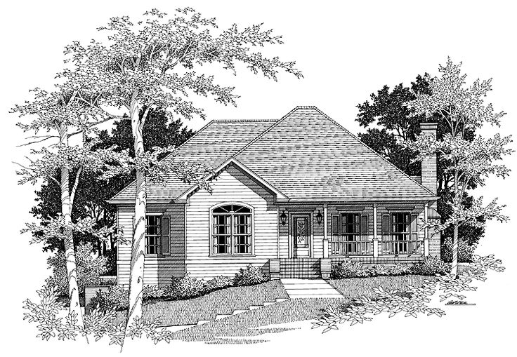 Eplans Country House Plan - A Lovely Home, Inside And Out - 1631 Square Feet and 3 Bedrooms(s) from Eplans - House Plan Code HWEPL00294