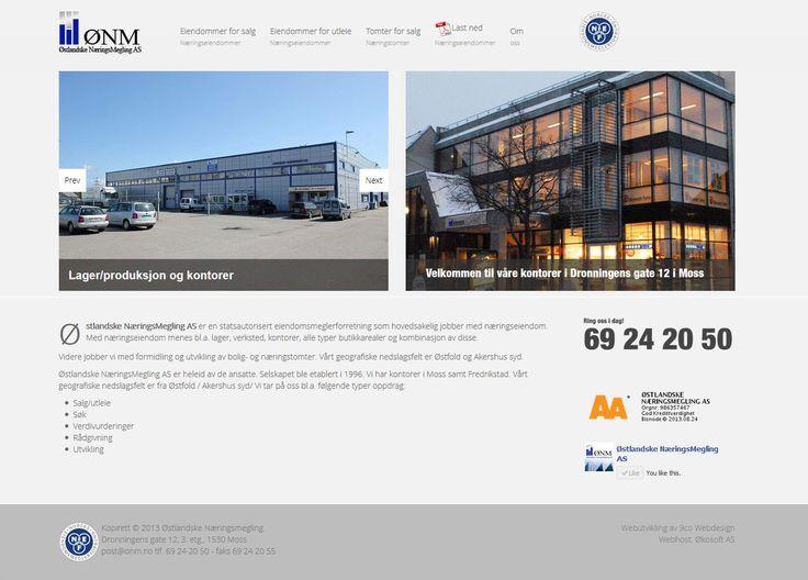 Ta en titt på den nye mobile responsive hjemmesiden jeg har utviklet til Østlandske Næringsmegling www.onm.no. Trenger dere en responsiv hjemmeside, ta kontakt.