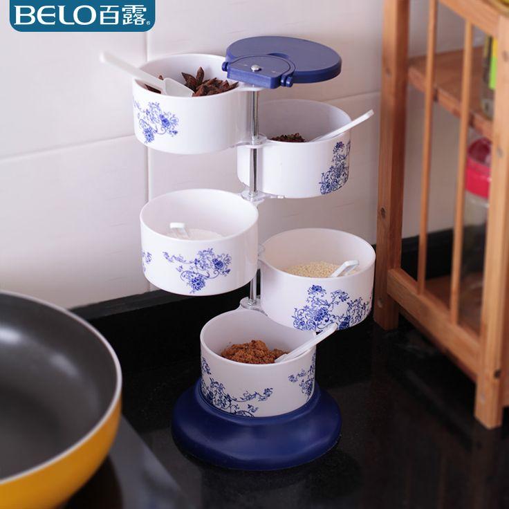 百露立式调味盒可旋转式调料盒创意厨房用品调味瓶调料罐满就包邮-tmall.com天猫