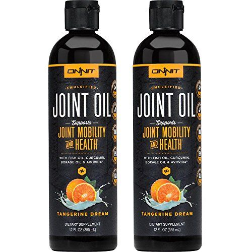 Onnit Joint Oil: Emulsified Liquid Fish Oil to Support Joint Health and Mobility - Tangerine Flavor (24 oz)