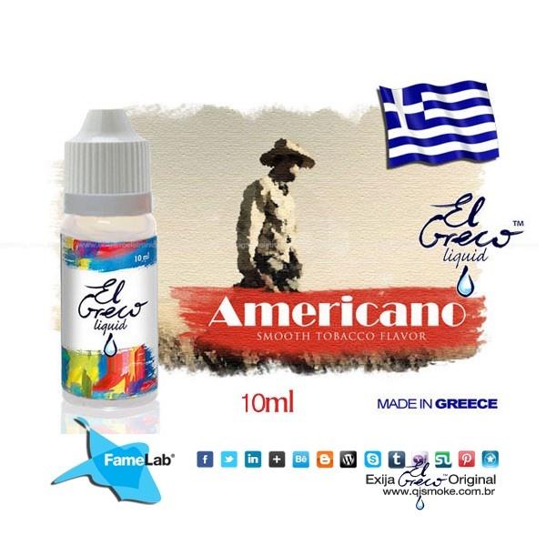 El Greco líquido sabor Americano SABOR: Americano 10 mL Disponível em 3 teors 18 mg/ml 9   mg/ml 0   mg/ml Melhor nicotina pronta entrega São Paulo