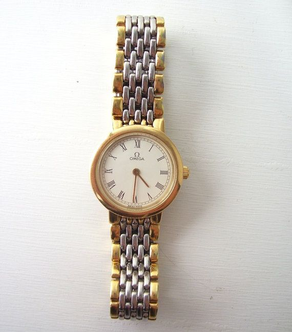 vintage omega wrist watch lady deville womens by RecycleBuyVintage, $600.00