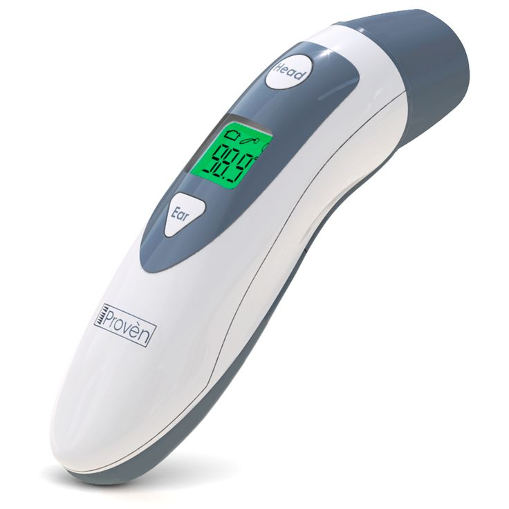 Baby Forehead Thermometer with Ear Function- iProven DMT489 Gray- Intelligent Fever Warning System - Clinical Accuracy