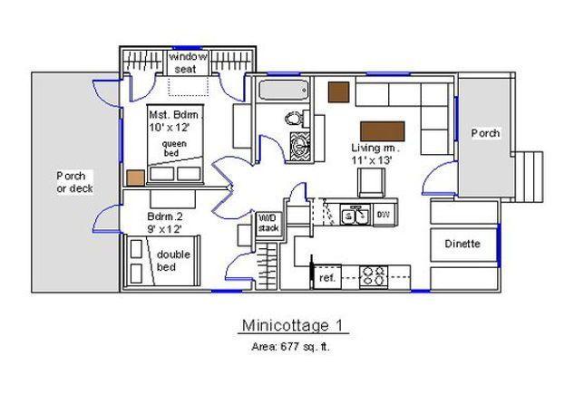 Dua Kamar Dan 1 Kamar Mandi Denah Rumah Arsitektur Rumah