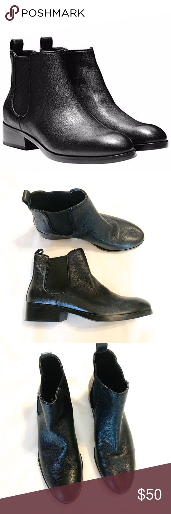 Cole Haan | Corinne black leather chelsea boots Co…