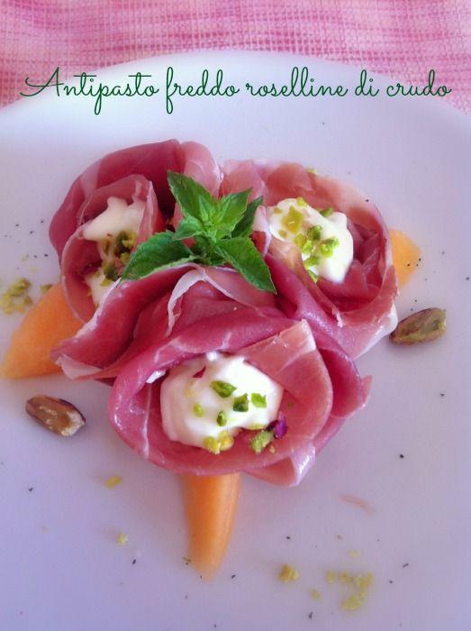 Antipasto freddo roselline di crudo