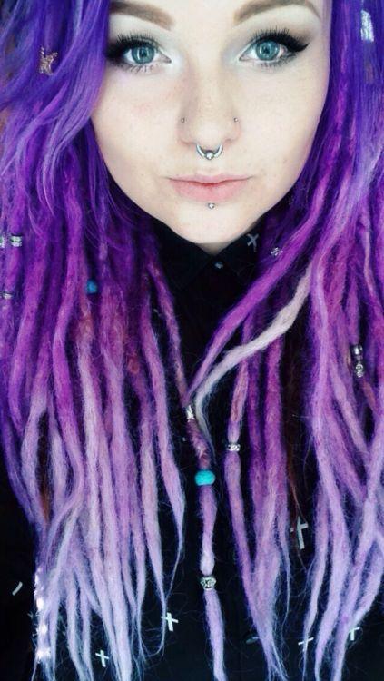 pastel purple dreads
