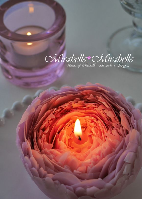 蜜蝋で作るお花のキャンドルたち : キャンドル教室 ミラベル*ミラベル(東京都台東区)  #シャクヤク,#peony ,#candle