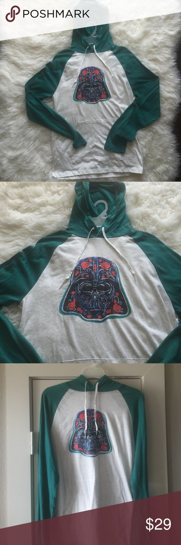 Dartu Vader T Shirt Hoodie One of a kind, Old Navy t shirt hoodie with Chacasso Star Wars Art added. New with tags. Will fit Boys Large or Men Small. Shirts Tees - Long Sleeve