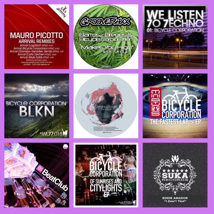 Some of our productions For the full list , please visit our page http://www.beatport.com/artist/bicycle-