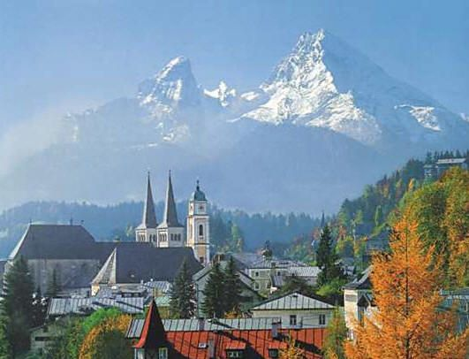 Berchtesgaden, Germany- Oct. 2011 (Sean climbed Mt. Watzmann, in the background) – Blue Cutler