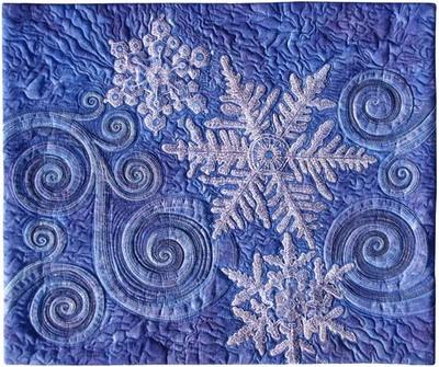 snowflakes > http://wwwbluemoonriver.blogspot.com/2012/12/2013-once-in-blue-moon-fiber-art-retreat.html