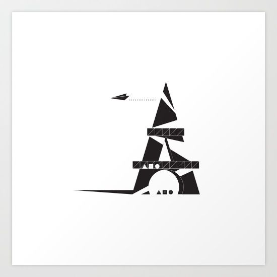 ABSTRACT_05_EIFFEL+TOWER+Art+Print+by+JOhn+Ip+-+$12.48