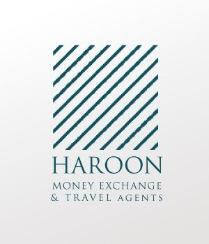 Haroon Travel & Money Exchange Logo design.
