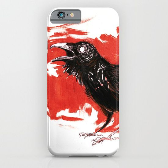 painting  acrylic  ink  black-&-white   illustration  realism  crow  raven   black  bird  red  blood   death  forest  wild  danger