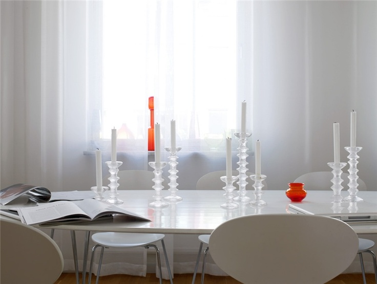 Festivo candle holders by Iiittala. Looking coolish retro nowdays and again, would fit together with my Ultima Thule tableware.
