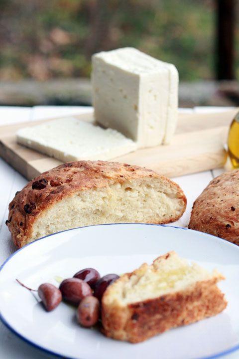 Greek Tiropsomo - Feta bread