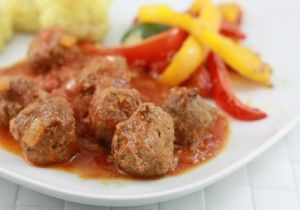 Sweet(ish) and Sour Meatballs by The Foodie and the Family