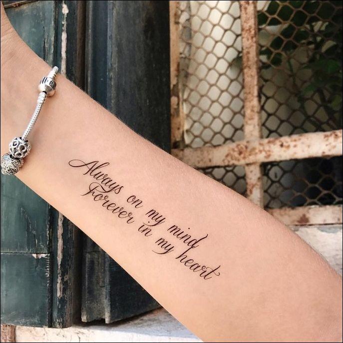 Тату на запястье для девушек надписи на латыни фото с переводом, сделанная
