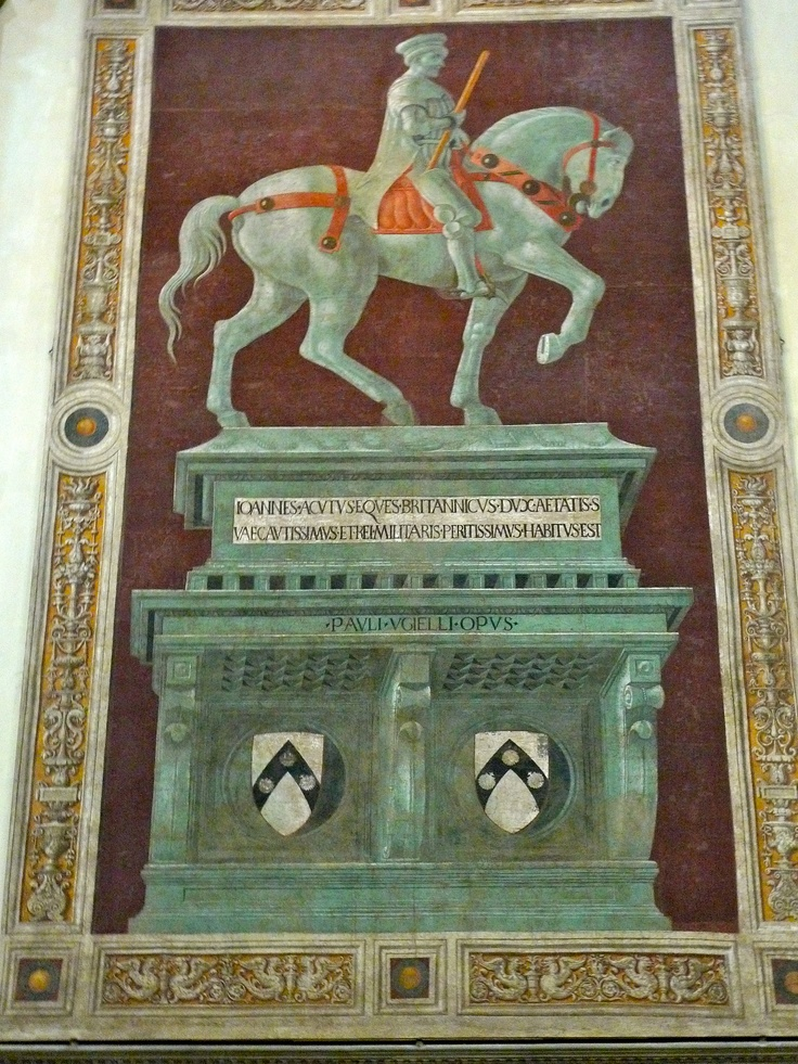 The Funerary Monument (or Equestrian Monument) to Sir John Hawkwood is a fresco by Paolo Uccello at The Duomo, Florence, Italy