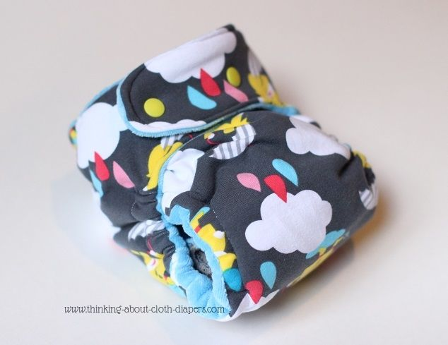hybrid fitted cloth diaper made using Homespun Aesthetic cloth diaper pattern