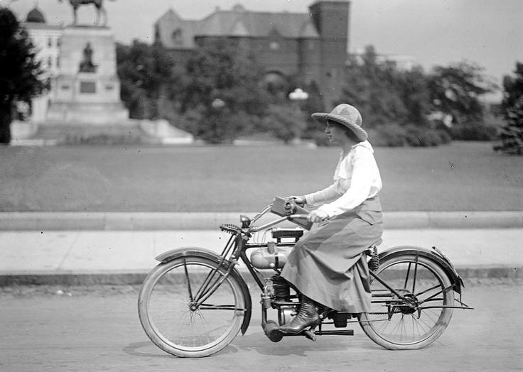 Lady Motorcyclist