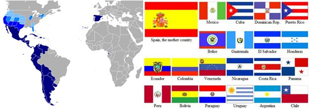 Spanish is the official language in 21 countries, spoken in 44 ...