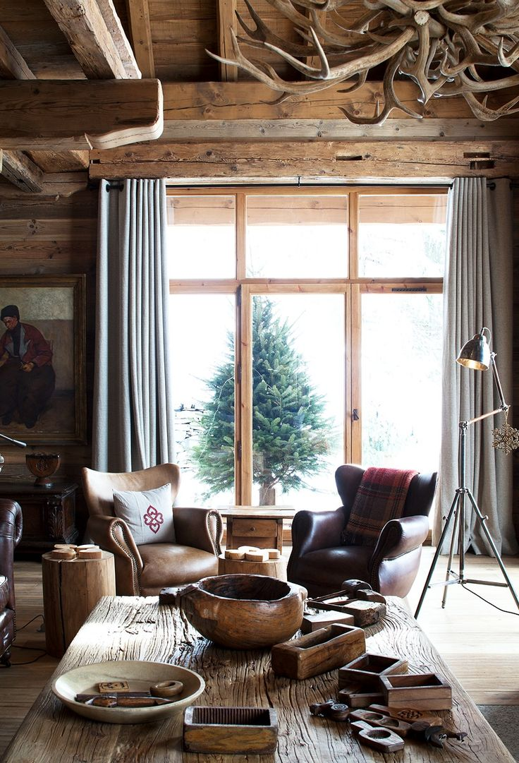 843 best d co montagne images on pinterest chalets architecture and chalet style. Black Bedroom Furniture Sets. Home Design Ideas