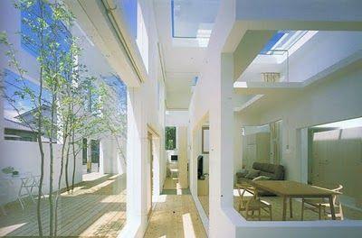 Casa N- Arquiteto Sou Fujimoto. Arquitetura Moderna, casa com cômodos integrados. Ideia de leveza e integração com o externo, natureza e modernidade.