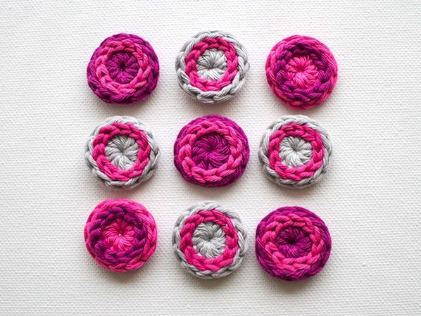 How-To: Cool Crocheted Buttons #crochet #buttons