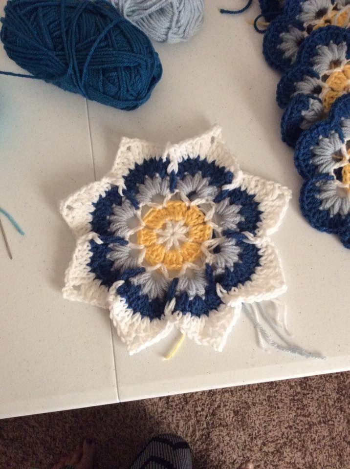 Çiçekli Battaniye Modeli Yapılışı 13