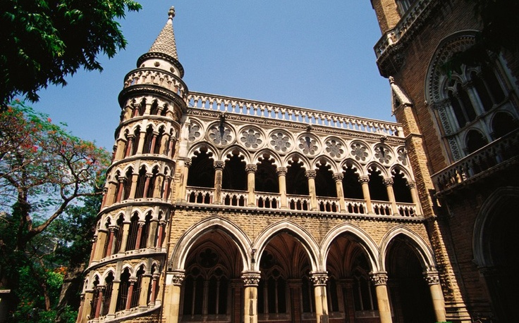 The original campus of Mumbai University was built in the 19th century and has many beautiful buildings, including this spiral staircase. The campus's Rajabai tower is modelled on Big Ben, and is one of Mumbai's most famous landmarks.
