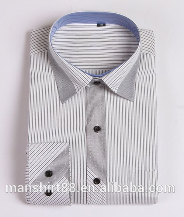 2016 mens contrast collar and cuff stripes casual fancy for Mens dress shirts with contrasting collars and cuffs
