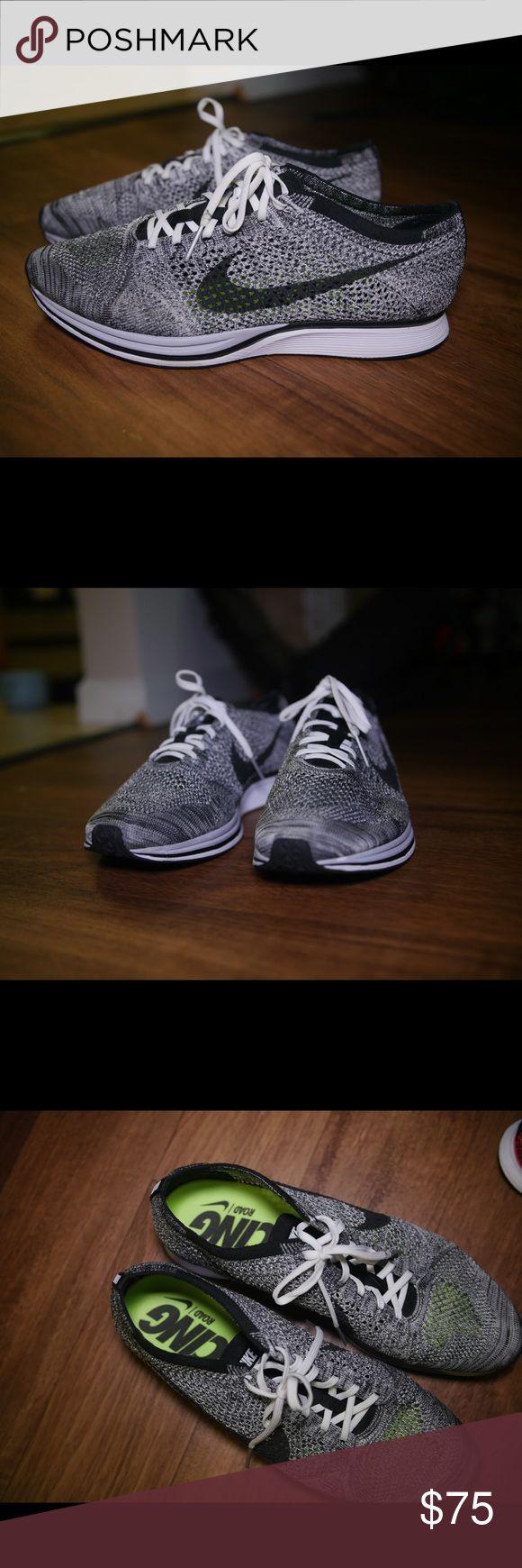 Nike Flyknit Racer Oreo Rarely used Nike Flyknit Racer Oreo. Nike Shoes Athletic Shoes