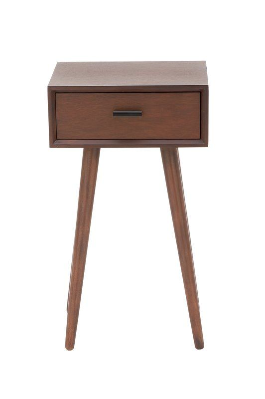 Cole & Grey Wood End Table With Storage