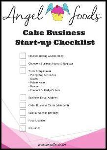 Free Cake Business Start Up Checklist