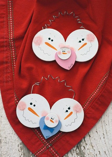 Baby's First Christmas Snowman Ornament by @amandaformaro Crafts by Amanda