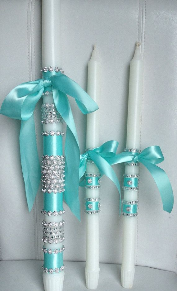 Baptism candle set by ForKalotina on Etsy