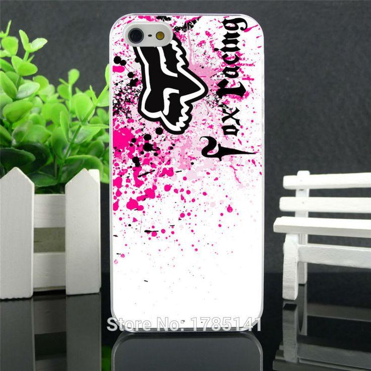 1pcs fox racing logo hard white Skin Case for iphone 5 5s 4 4g 4S 5c Retail