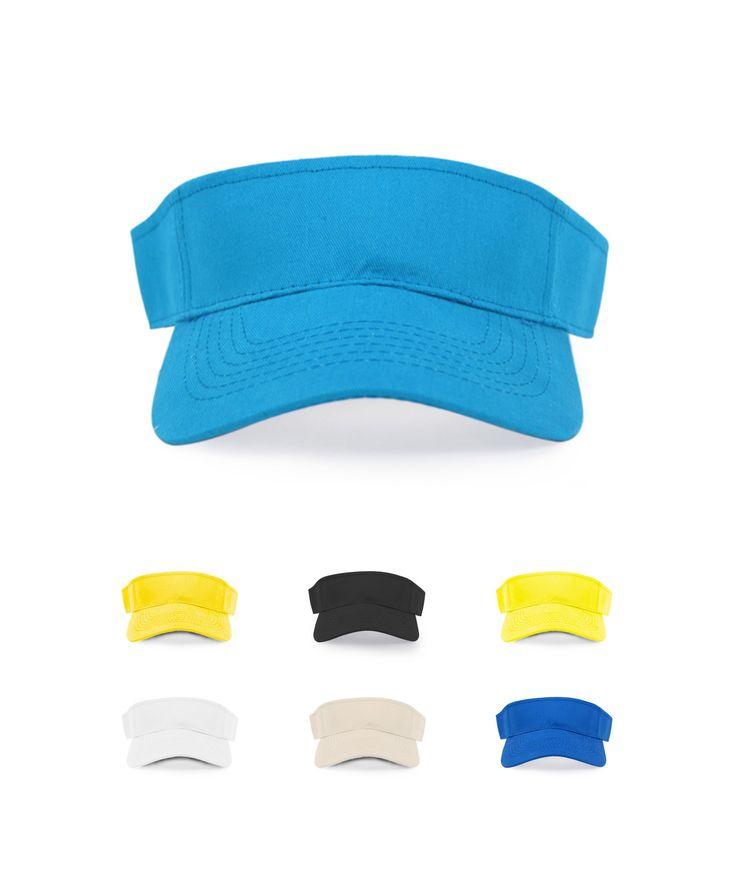 Selini NY Solid Sport Adjustable Sun Visor Hat, Adult Unisex, Banana;Black;Royal Blue;Khaki;Light Blue;Mustard;Navy;White