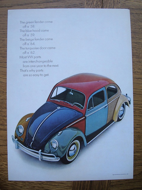 Was the Harlequin Volkswagen Golf born here? http://en.wikipedia.org/wiki/Volkswagen_Golf_Mk3#Harlequin_Edition