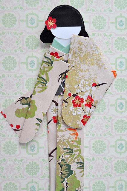 Kimono Doll Card, via Flickr.