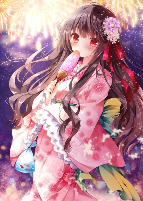 71 Best ANIME (in Kimonos) Images On Pinterest