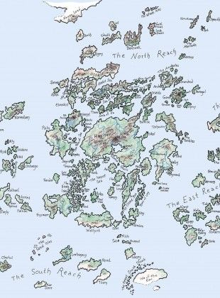Earthsea, as drawn by Ursula K. Le Guin
