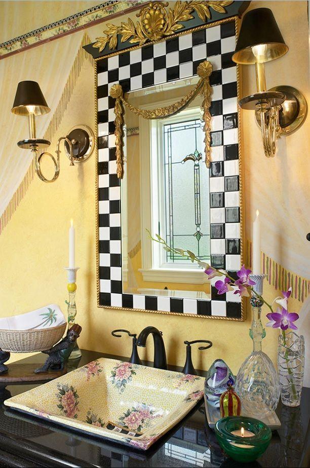 Amazing Unique Bathroom    Reminds Me Of Mackenzie Childs